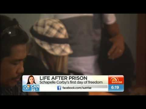 Schapelle Corby's first night of freedom