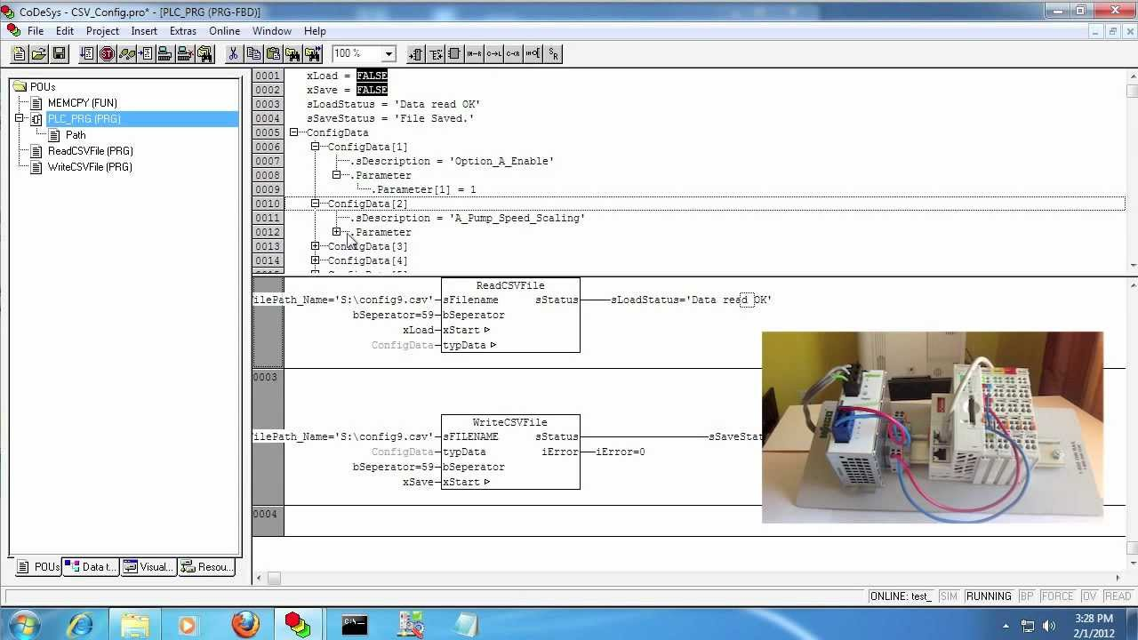 Advanved Codesys Tutorial Read Write Csv Files W Wago   Plc Youtube