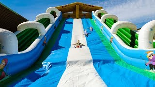 Fun Huge Outdoor Bouncy Castle Slide for Kids
