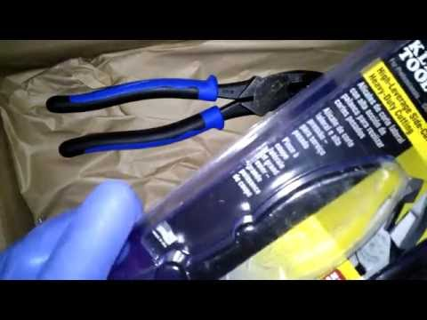 Klein Tools J2000-9NE High-Leverage Side-Cutting Pliers Unboxing