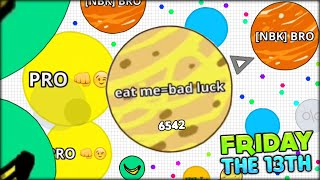 SOMETHING HAPPENED TODAY - UNLUCKY FRIDAY THE 13TH AGARIO (Agar.io Mobile App #106)