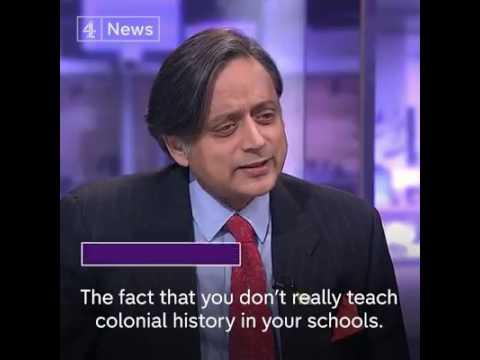 Shashi Tharoor on British rule.