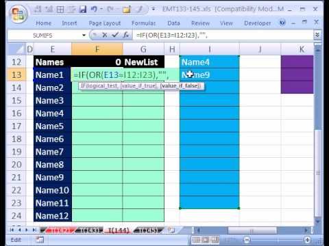 Excel MT 144 p1 Formula: Avoid Data Validation 1 Rule Limit
