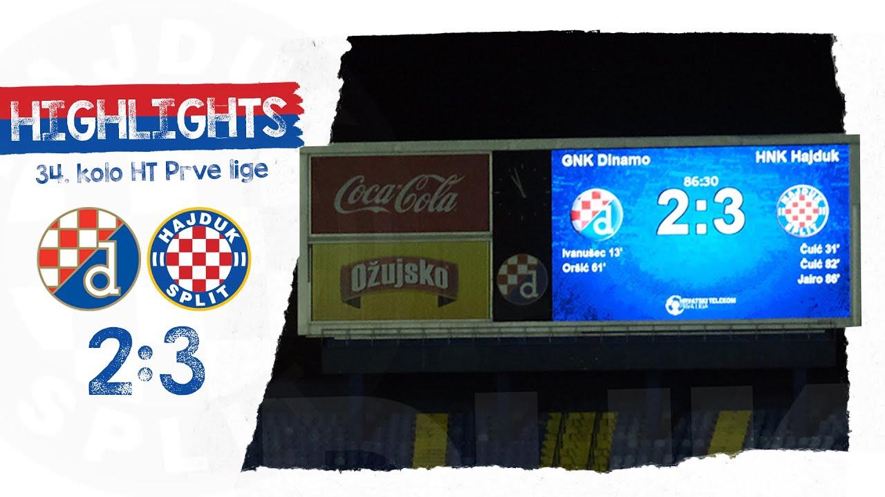 34.kolo HT Prve lige (2019/2020): Dinamo - Hajduk 2:3