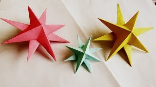 How to make simple & easy paper star | DIY Paper Craft Ideas, Videos & Tutorials./rihan rini