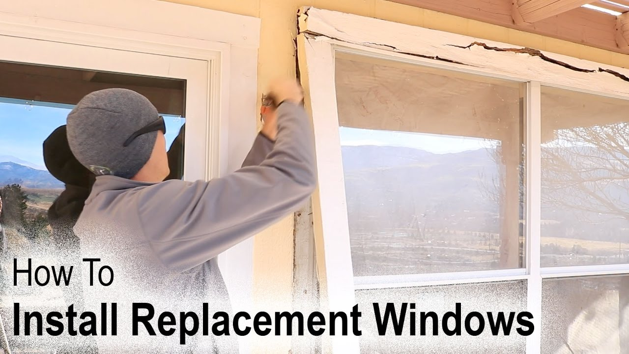 How to install a replacement window on a house with wood for Installing vinyl replacement windows