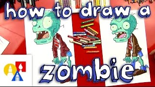 How To Draw A Zombie (Plants vs Zombies)