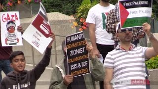 "Calgary ""peace activists"" preaching anti-Semitism confronted by JDL on Al Quds day"