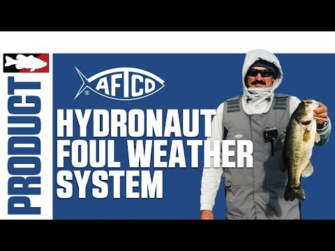 Aftco Hydronaut Waterproof Bib, Jacket, And Gloves With Jared Lintner On Clear Lake