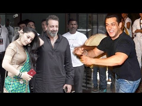 Sanjay Dutt's GRAND WELCOME At Salman Khan's Ganpati Visarjan 2018