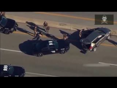 Oklahoma Police Chase with Amazing PIT Maneuver