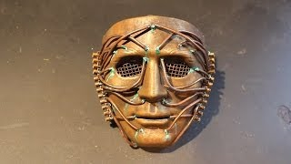 Brass and copper effect Steampunk mask