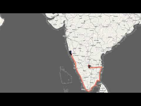 Biking through the East and West coast of peninsular India