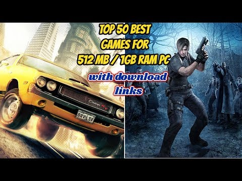 top 50 games for 512 MB and 1 GB ram pc with download links/best games for low end pc
