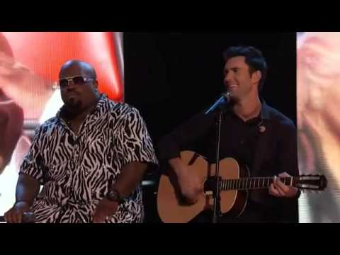 Blake, Christina, CeeLo and Adam   Good Riddance Time of Your Life    The Voice   YouTube