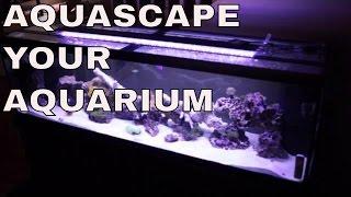 125 Gallon Salt Water Aquarium Rock Placement