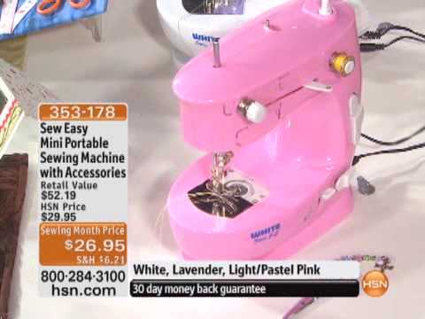 Sew Easy Mini Portable Sewing Machine With Accessories YouTube Awesome Easy Hand Sewing Machine