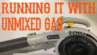 What Happens When You Run Straight, Unmixed Gas in a 2-Stroke, 2-Cycle Engine