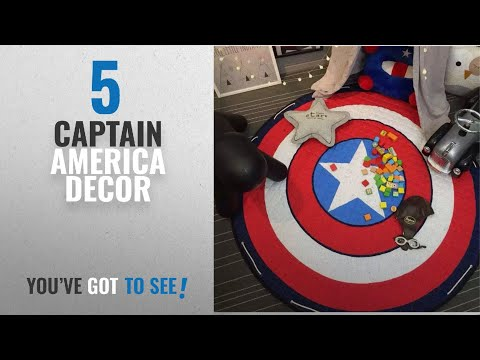 Top 10 Captain America Decor [2018]: INCX Kids Play Mat/Rugs and Toy Organizer Storage Cotton 58x58