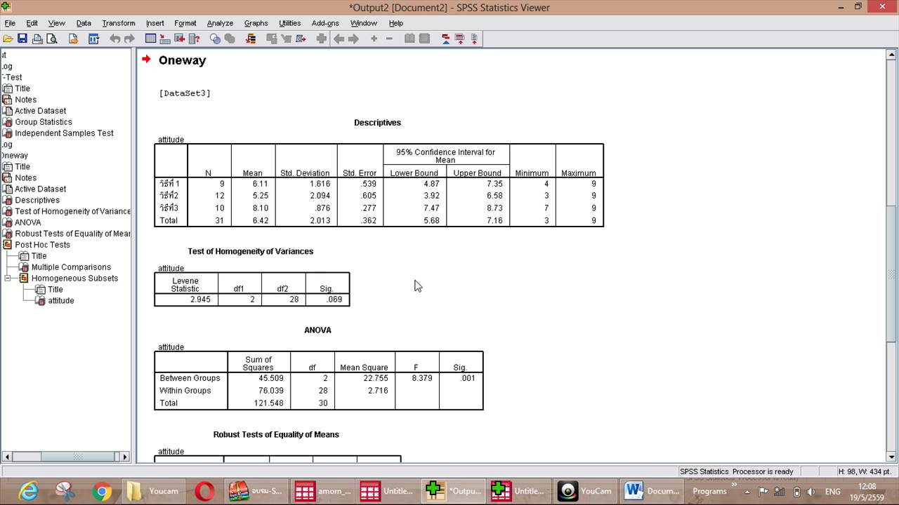 how to run a 3 way anova in spss