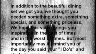 98 Degrees- I Do Cherish You Music Video (Wedding Gift To Meagan & Andy)