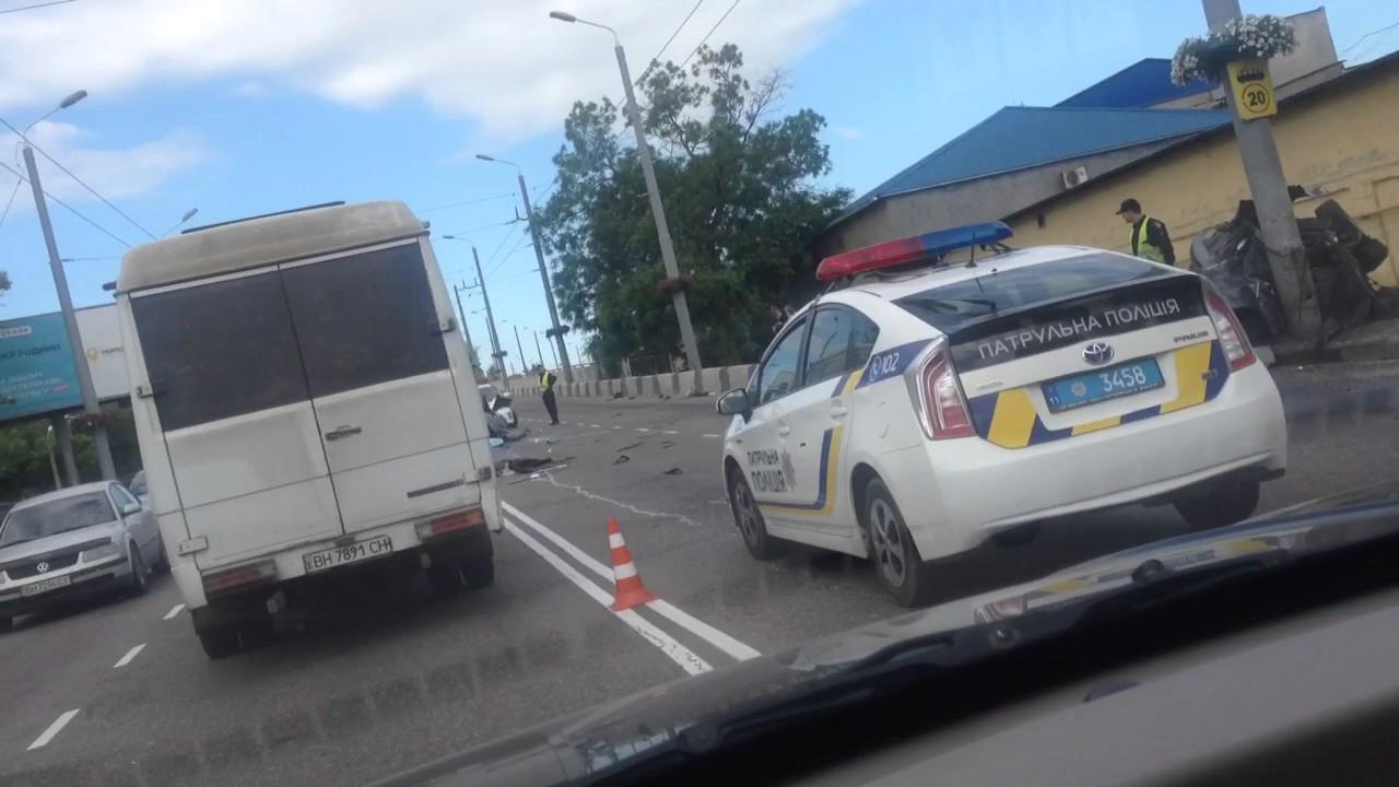 Жесткое ДТП на Ивановском мосту, Одесса