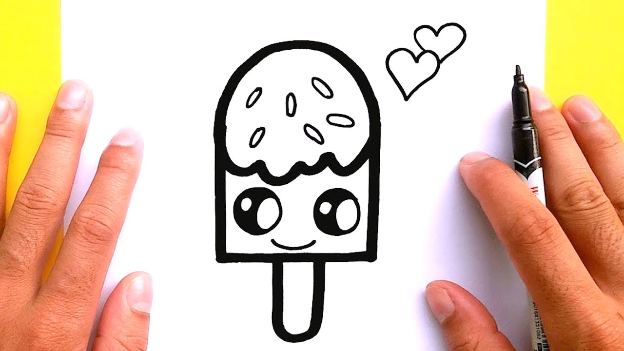 How To Draw A Ice Cream For Valentine S Day Draw Cute Things Youtube