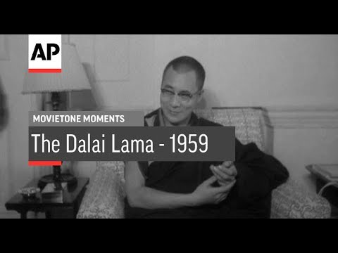 The Dalai Lama - 1959 | Movietone Moments | 17 Nov 17