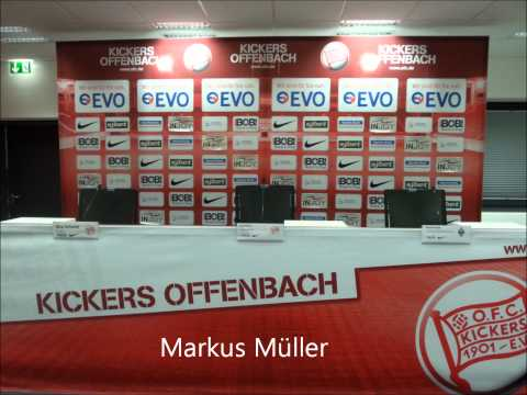 Kickers Offenbach - SV Waldhof Mannheim - OFC-Spieler Markus Müller im Interview