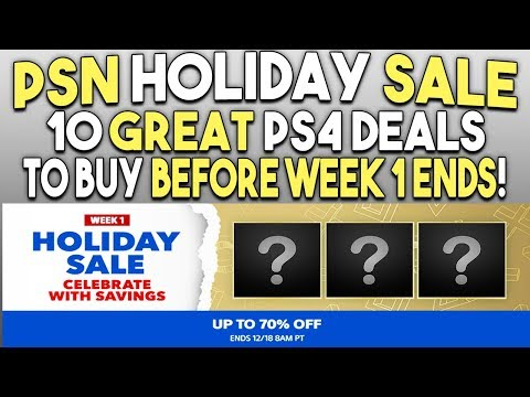 10 Great PS4 Game Deals to Buy Now! - PSN Holiday Sale Final Week 1 Deals!