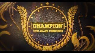 Award Ceremony Champion Of The Year 2018
