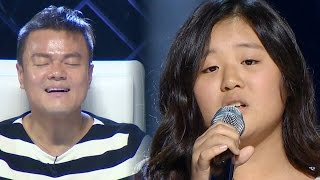 Yoo Jei's Sister Yoo Jiny Singing 'When We Were Young' 《KPOP STAR 6》 EP01