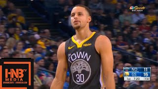 GS Warriors vs New Orleans Pelicans 1st Half Highlights | 01/16/2019 NBA Season