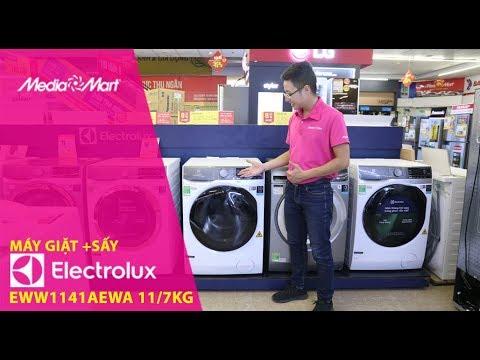 Máy giặt 11Kg + Sấy 7Kg Electrolux EWW1141AEWA – Giặt hơi nước tiêu chuẩn