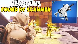 *NEW* INSANE GUNS FOUND BY SCAMMER! 😱😱 (Scammer Gets Scammed) Fortnite Save The World
