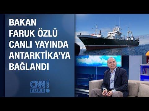 Bakan Faruk Özlü canlı yayında Antarktika'ya bağlandı