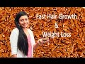 Fast Hair Growth लम्बे घने बालों के लिए & Weight Loss (वज़न घटाये) with Flax Seeds (अलसी)