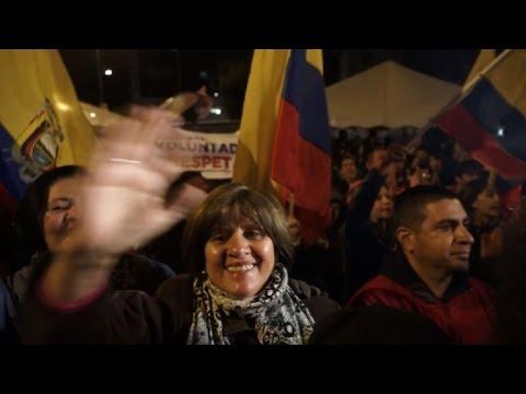 Oposición ecuatoriana festeja tras la confirmación del balotaje