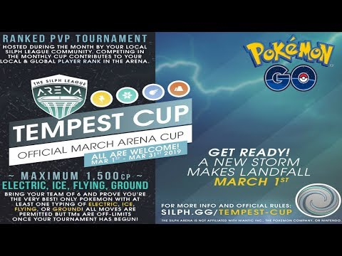 THE TEMPEST CUP HAS BEEN ANNOUNCED! Pokemon GO PvP Silph Road OFFICIAL TOURNAMENT! thumbnail