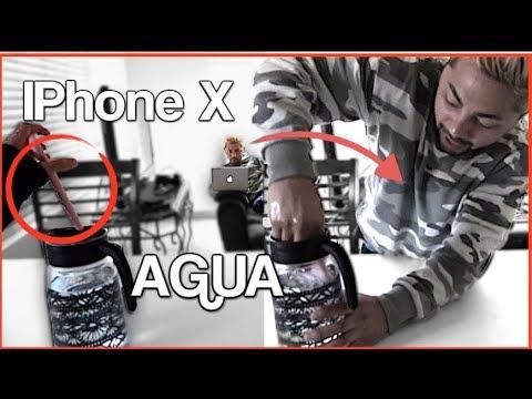 MI NOVIA TIRA MI iPHONE X AL AGUA! | Que Paso Mane