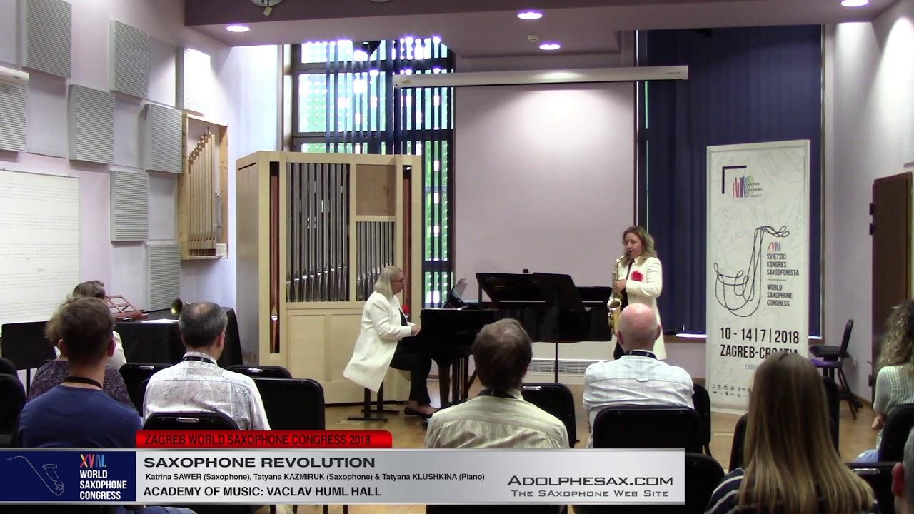 Deux Mouvememnts by André Waignein   Saxophone Revolution   XVIII World Sax Congress 2018 #adolphes