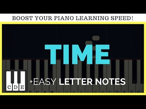 Time – Hans zimmer – piano notes – Inception