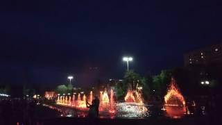 Поющие фонтаны Усть-Каменогорска