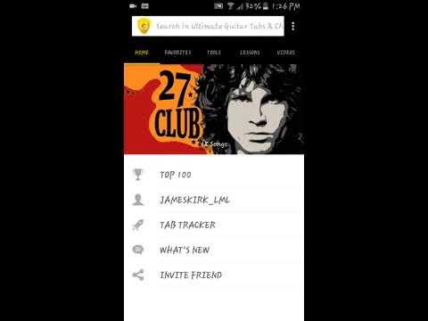 Aplicacion de android para leer tablaturas - Ultimate Guitar