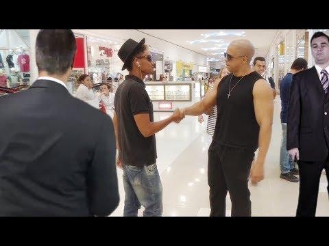 Vin Diesel e Neymar no Shopping
