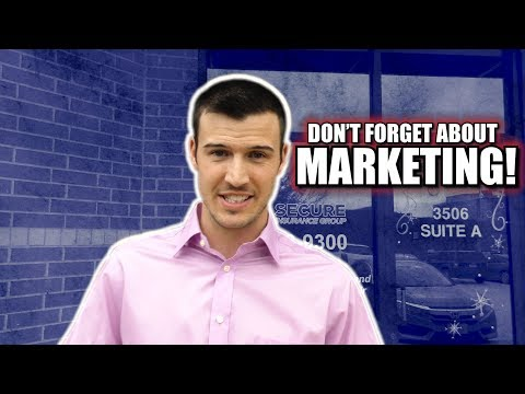 Marketing Is Important Too! [Insurance Sales Tips]