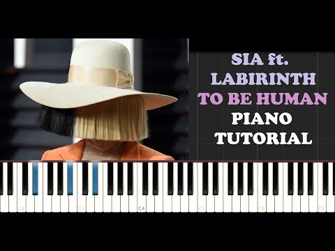 Sia ft Labirinth - To Be Human (Wonder Woman OST) (Piano Tutorial)