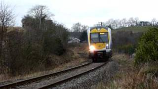 Northern Ireland Railways CAF 3023 on Londonderry Line  passing MP34