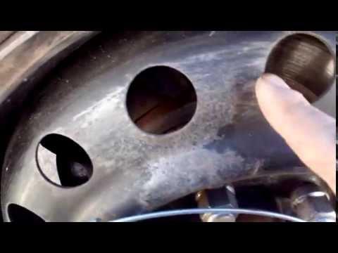 Скрытое крепление автомобильных колпаков хомутами