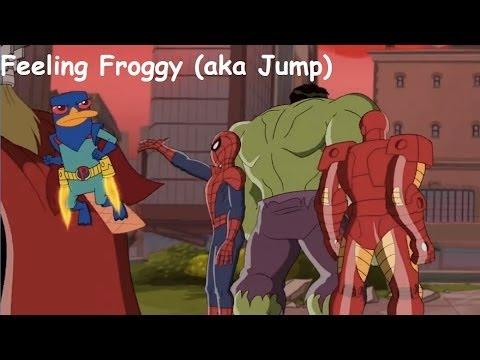 Phineas and Ferb Mission Marvel -  Feelin' Froggy (aka Jump) Lyrics